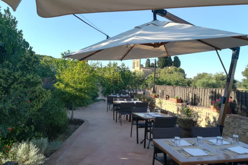 Terrace of restaurant La Roca